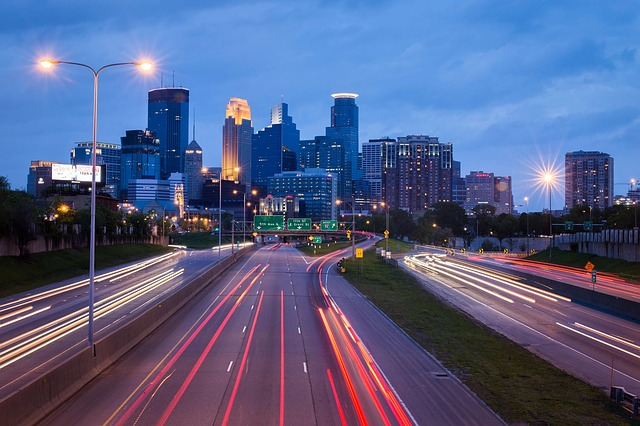 minneapolis at dusk